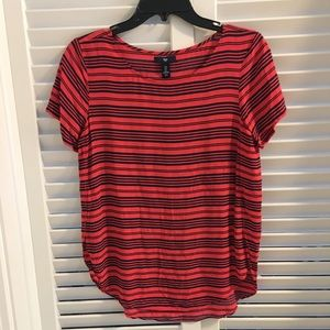 Gap, Red and Navy Striped Top